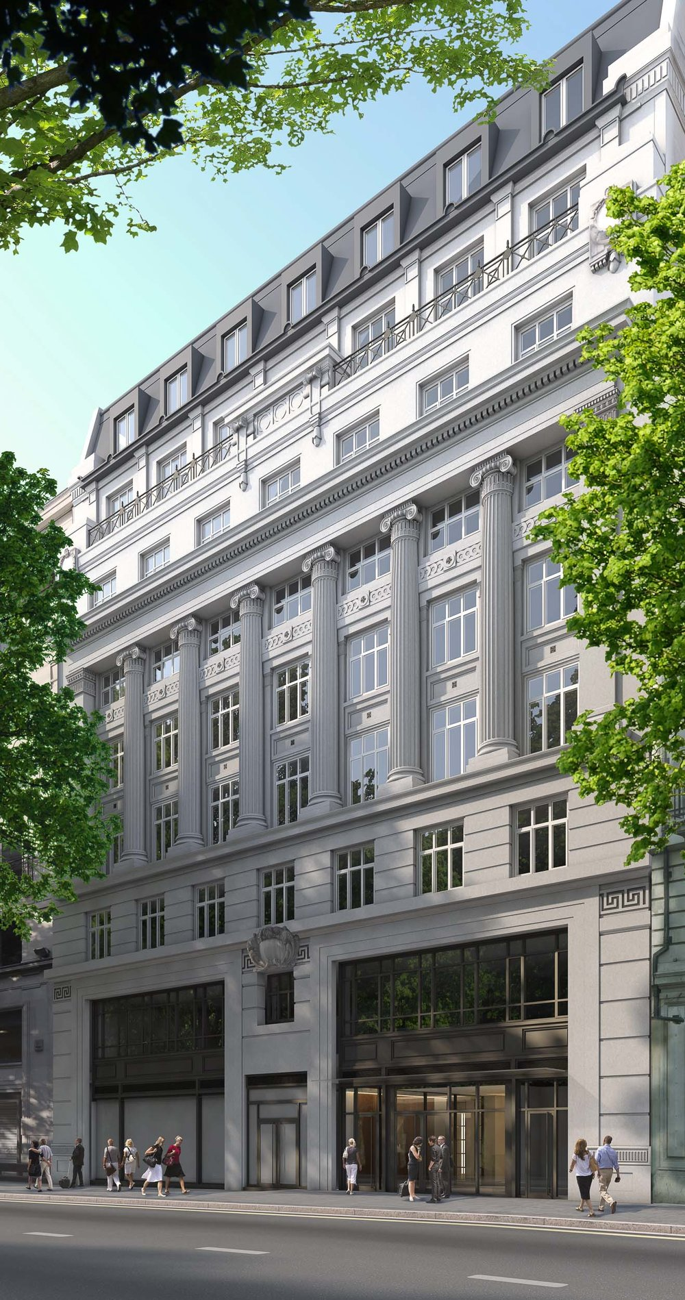 Located along the Kingsway in London. Princes House is a residential development in the heart of central London. The building has been refurbished to contain luxurious apartments with a high spec fit out.