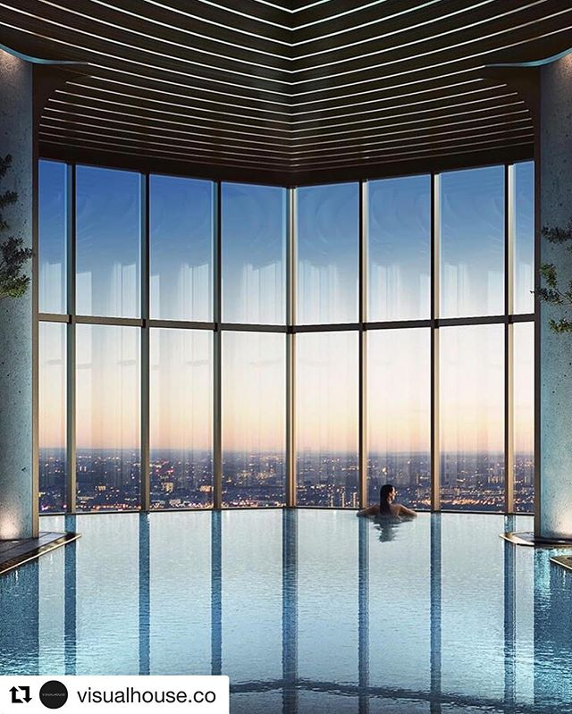#Repost @visualhouse.co ・・・ The serene Spire at London's Canary Wharf. A new luxury residential tower overlooking London's skyline, interiors designed by @stuart_forbes_associates envisioned by #visualhouse  #repost #visualhouse #residentialtower #cgi #tallbuilding #canarywharf #residentialarchitect #londonarchitect #riba