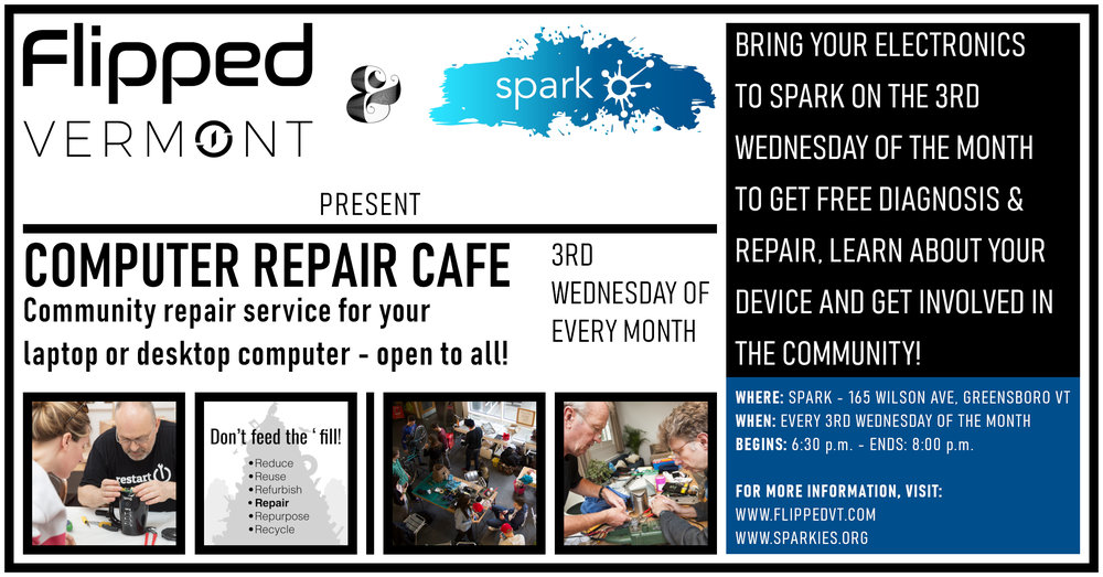 Computer Repair Cafe - Flipped Vermont Technology Solutions