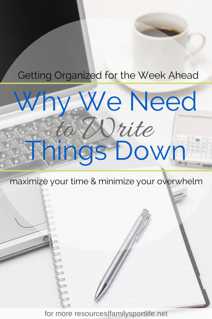Getting Organized for the Week Ahead Series via @familysportlife