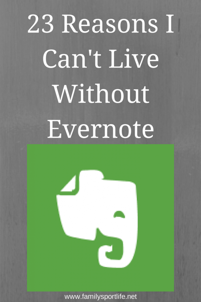 Reasons I Cant Live Without Evernote via @familysportlife #evernote #organization