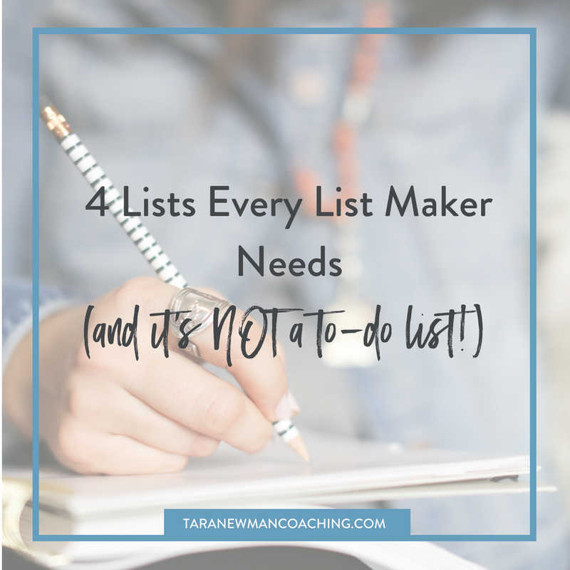 4 Lists Every List Maker Needs (and it's NOT a to-do list!)