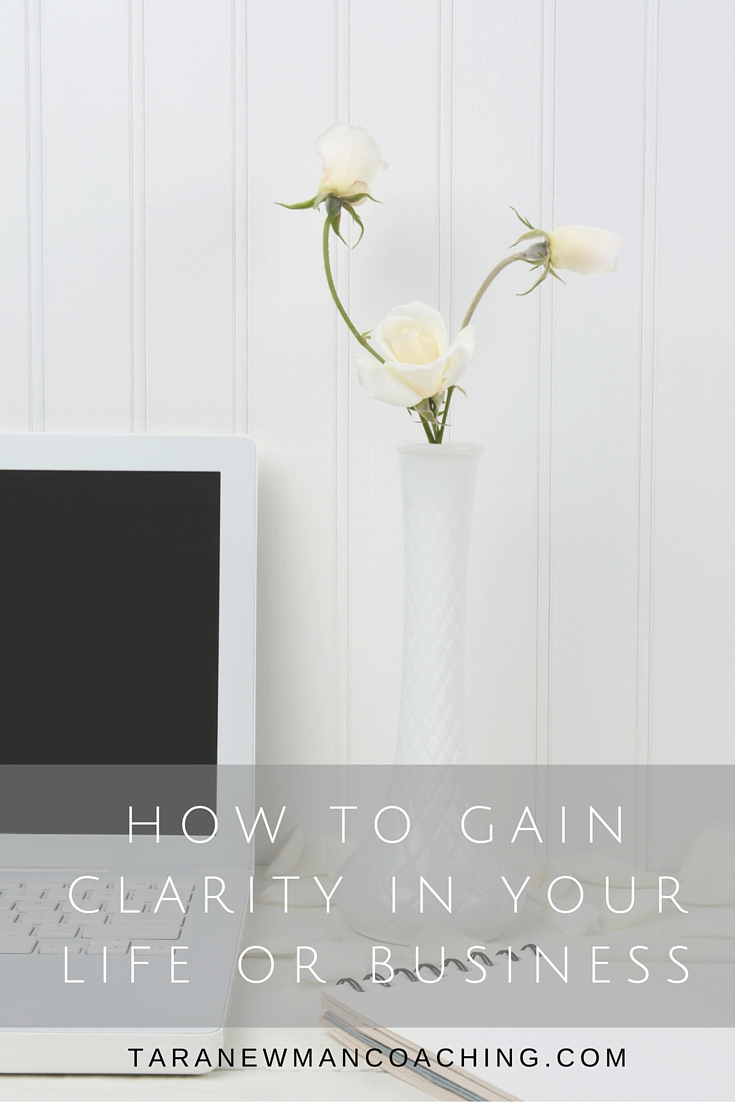 How to Gain Clarity in Your Life or Business-Tara Newman Coaching