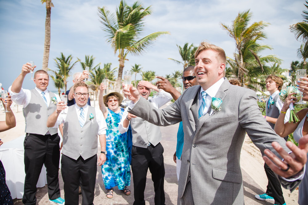 Punta Cana destination wedding celebration.