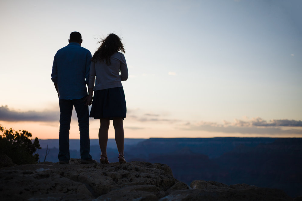 Grand Canyon sunset engagement photography
