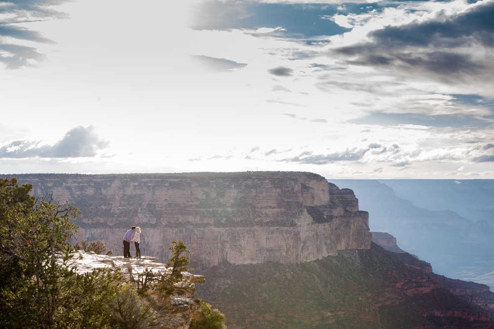 Epic Grand Canyon surprise engagement