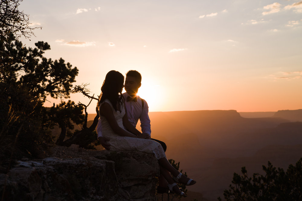 Grand Canyon sunset engagement