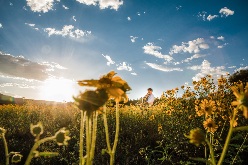Flagstaff sunflower engagement