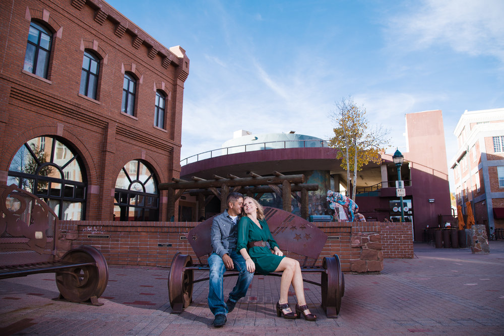 Flagstaff engagement session. Heritage square engagement.