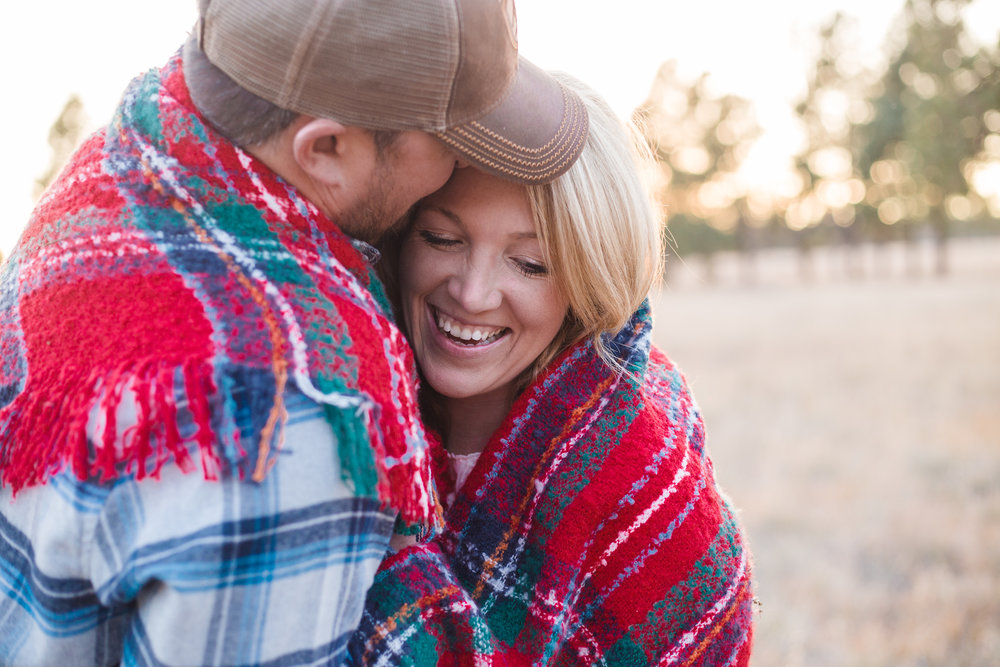 Flagstaff wedding photographer, Buffalo Park engagement photo session.