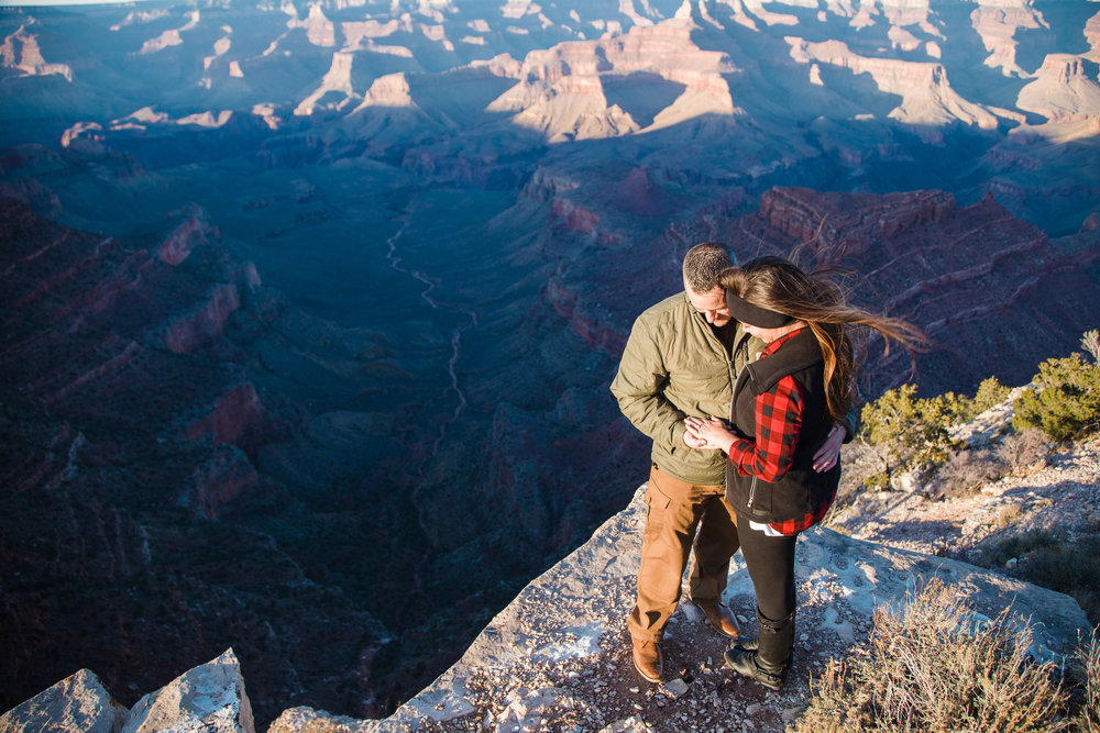 Grand Canyon engagement session, Shoshone Point.