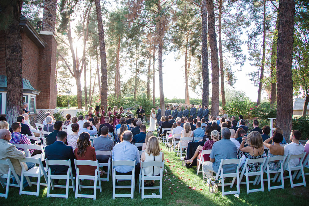 Chateau de Vie wedding ceremony