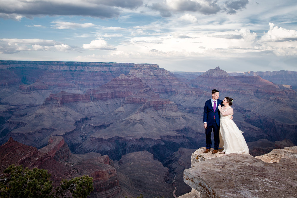 Grand Canyon Wedding. Shoshone Point Wedding - Grand Canyon Wedding P