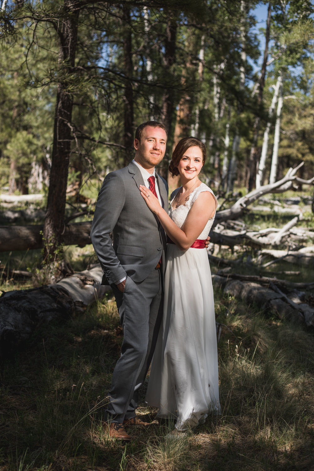 Flagstaff Arboretum Wedding portrait