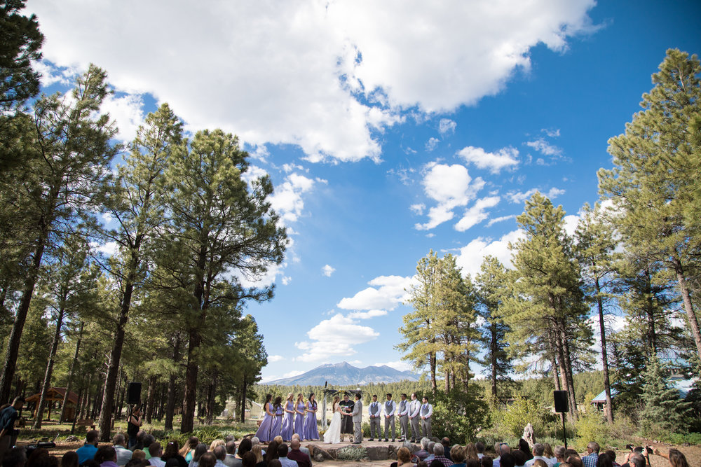 The Arboretum at Flagstaff offers one of the most stunning Flagstaff Wedding Venue backdrops.