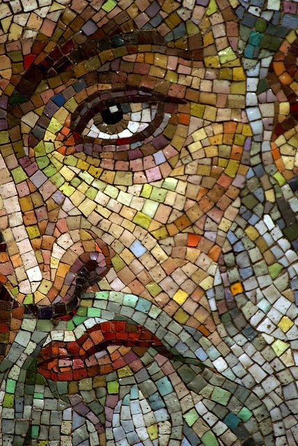 Detail of mosaic of Moses. Cathedral Basilica of St. Louis, St. Louis, Mo.