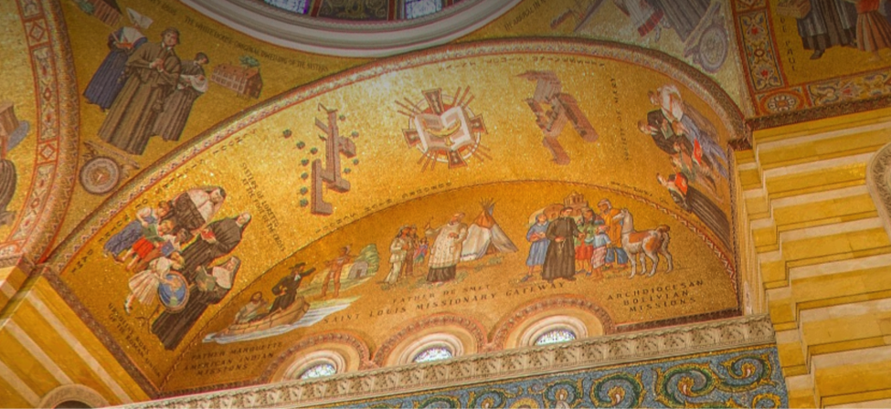 """Education Wall,"" Cathedral Basilica of St. Louis, St. Louis, Mo."