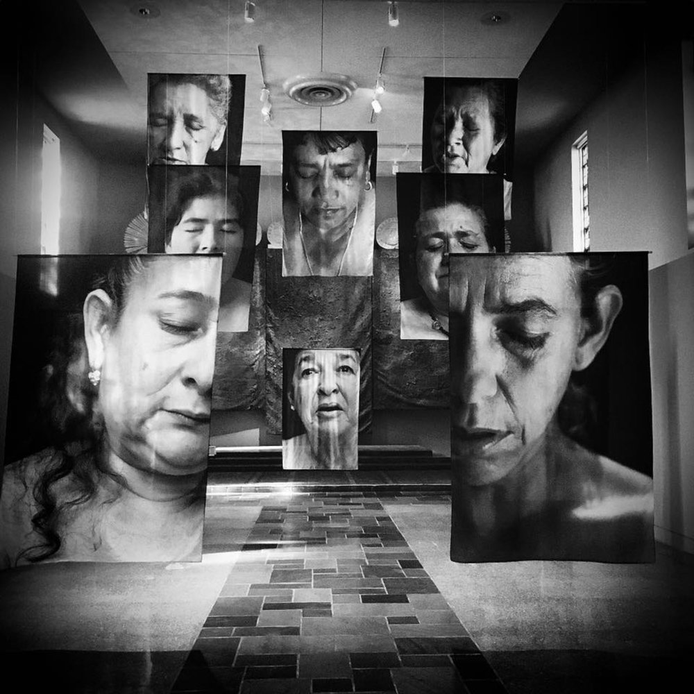 Erika Diettes,  Sudarios . Museum of Contemporary Religious Art, Saint Louis University. October 2016.