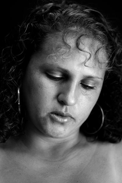 Erika Diettes,  Sudarios. Black and white digital photograph, silk printing,2011. MOCRA exhibit, 2016.