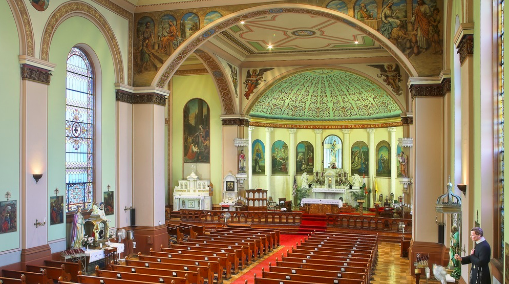 Interior of St. Mary of Victories.