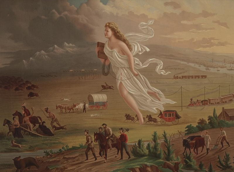 American Progress . c. 1873. Chromolithograph (after painting by John Gast). Library of Congress.