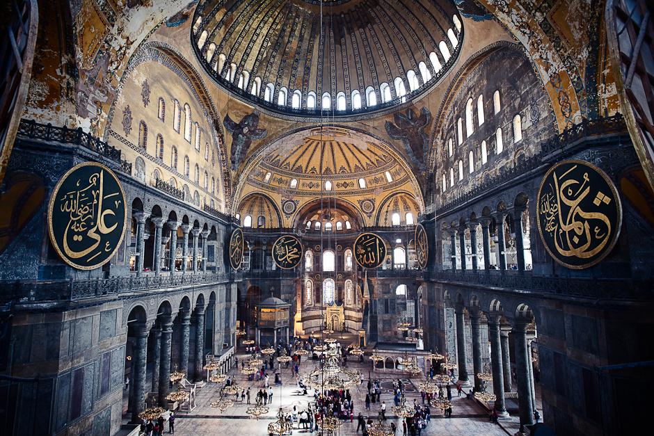 Hagia Sophia interior.  John Cavacas , 2012.