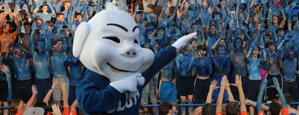 SLU High Homecoming and Jr. Biliken mascot.