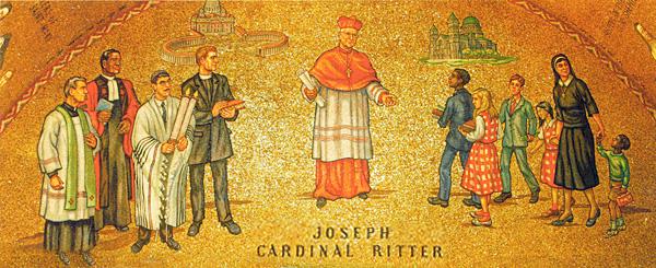 Joseph Cardinal Ritter mosaic, Cathedral Basilica of St. Louis. Saint Louis, Mo.