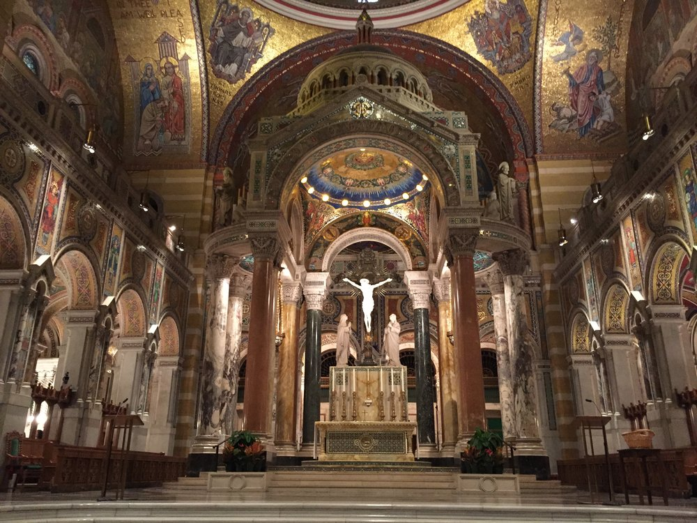 Interior.Cathedral Basilica of St. Louis.St. Louis, Mo. Photo by Kat Lane, 2017.