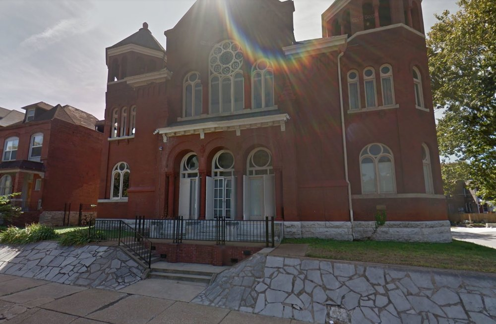 Former site of the B'Nai El Jewish congregation. St. Louis, Mo.