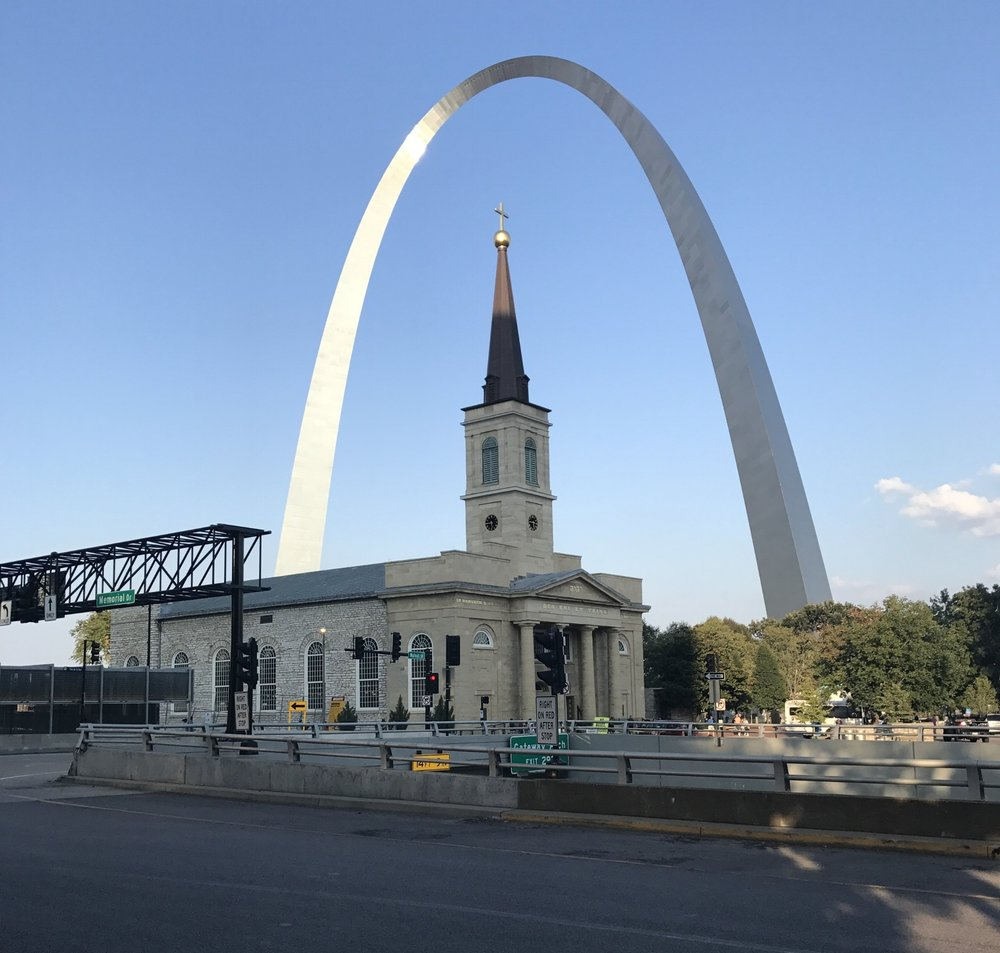 """Basilica of St. Louis, King of France (""""Old Cathedral""""). St. Louis, Mo. Photo by Rachel Lindsey."""