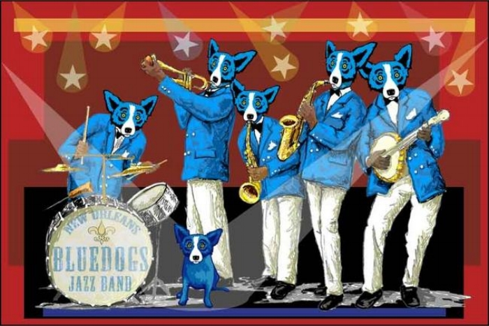 """You Can't Drown the Blues"" by George Rodrigue"