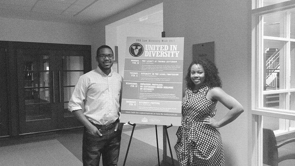 SBA Diversity Co-Chairs Charles West (left) and Camille Grant (right). Photos courtesy of Charles West.