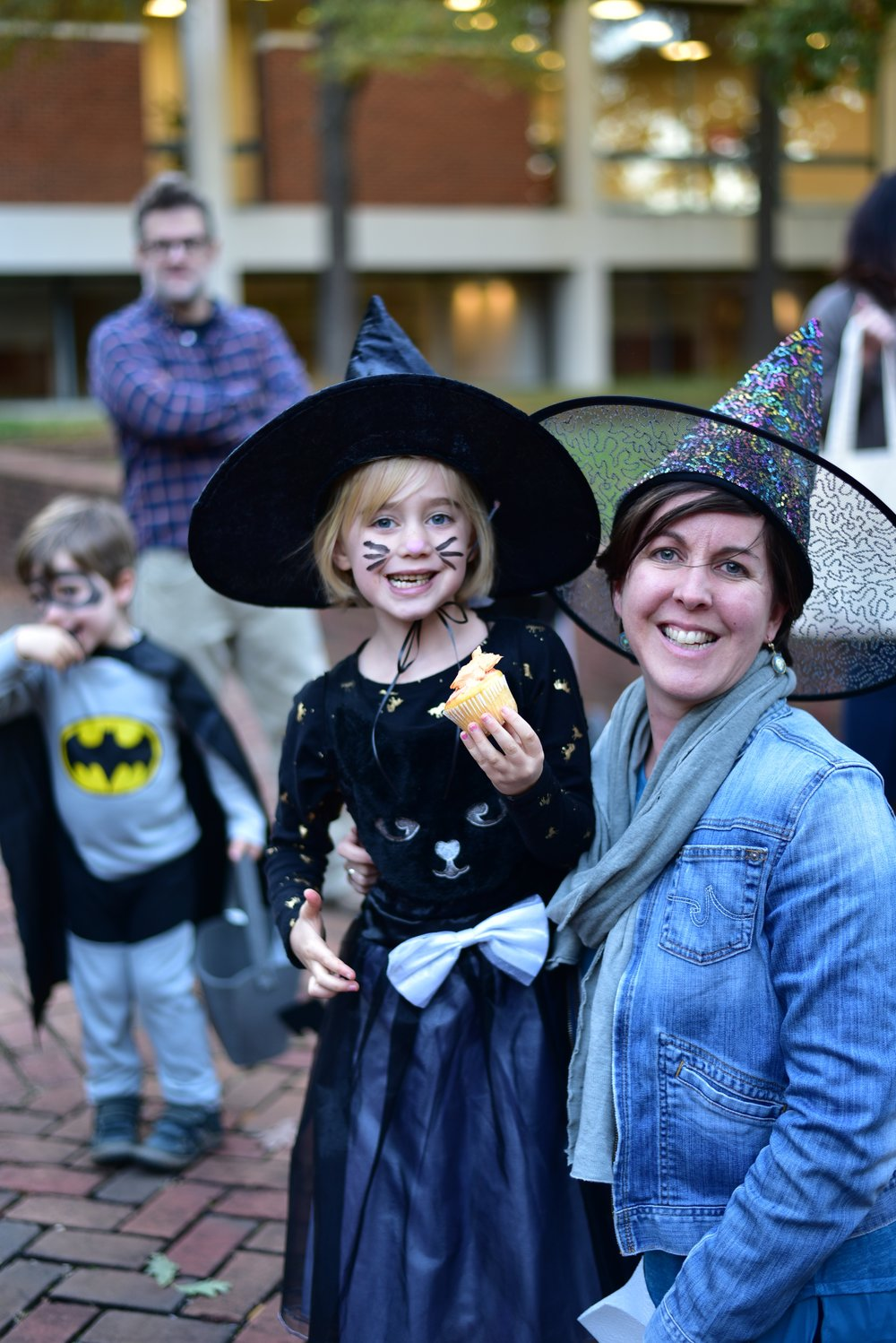 Olivia and her mother, Kate Duvall, attempt to rehab the scary image of witches. Photo courtesy of Eric Hall.