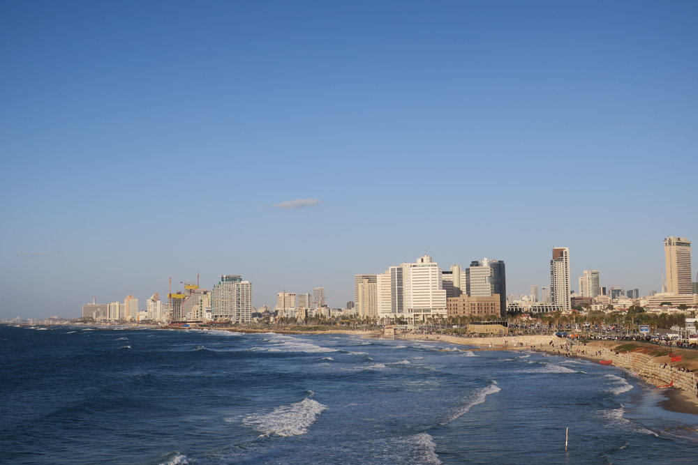 Students visited Israel over the break and were able to enjoy the Tel Aviv waterfront. Photo courtesy of Ali Zablocki.