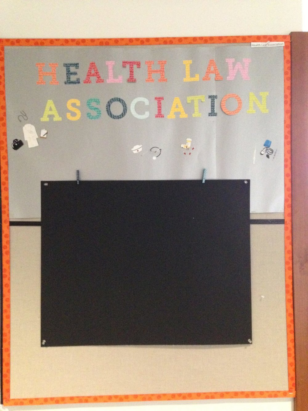 The barren HLA bulletin board. Nothing will be posted on it until there is no longer a lack of suitable drinking water in this world. Photo courtesy of HLA.