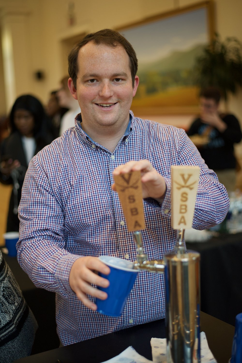 SBA President and class prankster Steven Glendon '18 mischievously pours a beer. Eric Hall/ Virginia Law Weekly