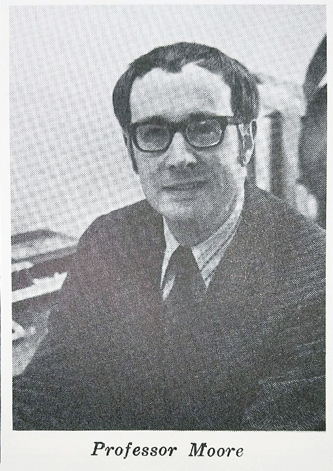 A young Professor Moore in 1972.  Virginia Law Weekly