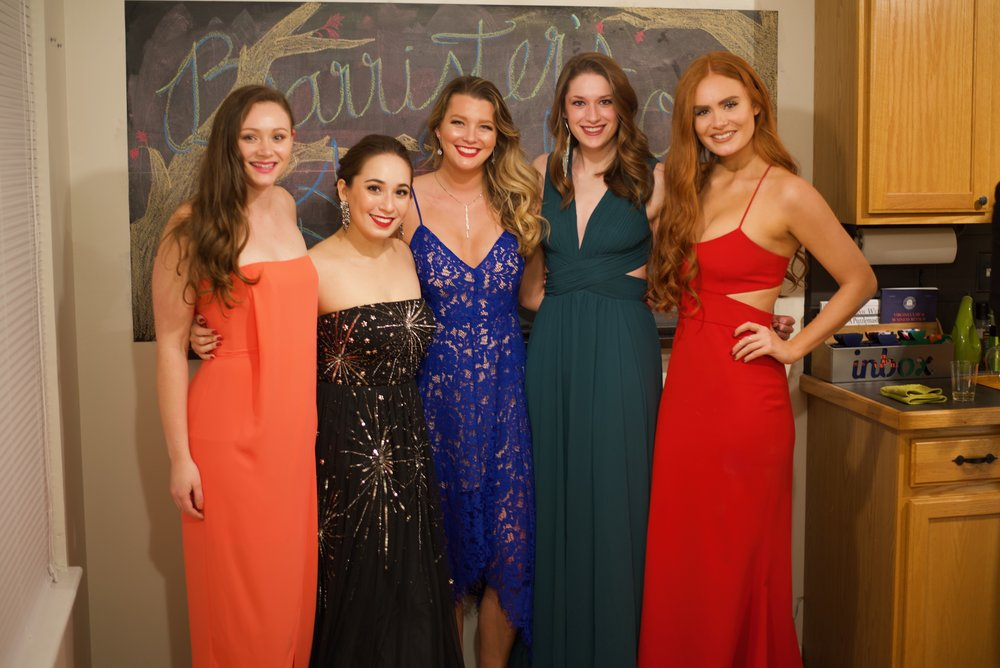 From left to right, Madison McMurray '19, Trina Rizzo '19, Darcy Whalen '19, Kendall Burchard '19, and Hannah Blazek '19. Eric Hall / Virginia Law Weekly
