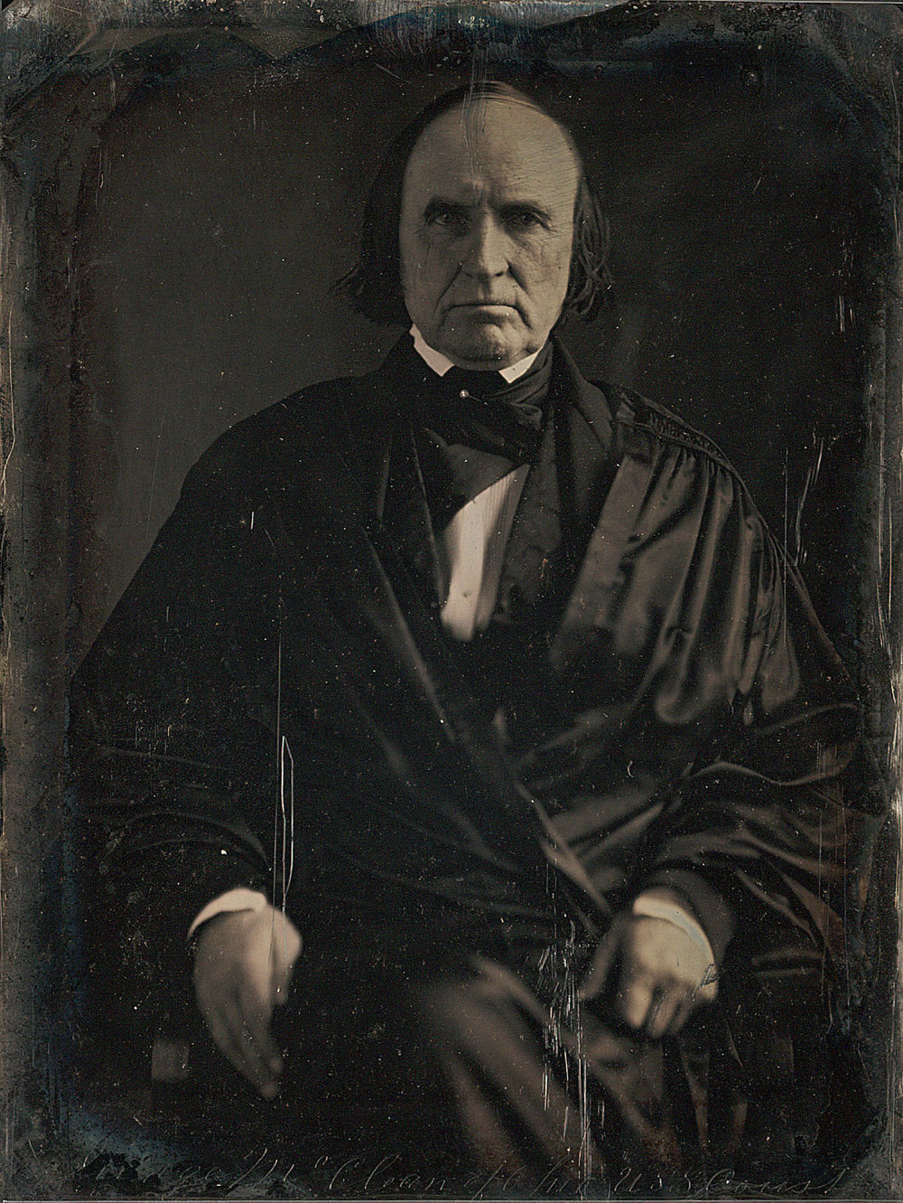 Justice McLean, pictured in an 1849 daguerreotype. Photo courtesy Matthew Brady.
