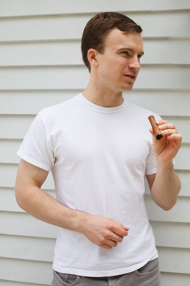 Large-headed Brendan Woods '19 enjoys a slightly less large cigar. Photo coutesy Brendan Woods.