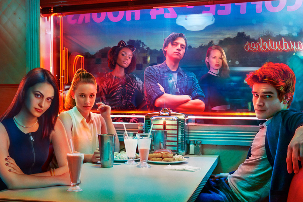 The malt-shop love triangle is still there but this Riverdale aims at more than just Archie on TV. Photo courtesy the CW.
