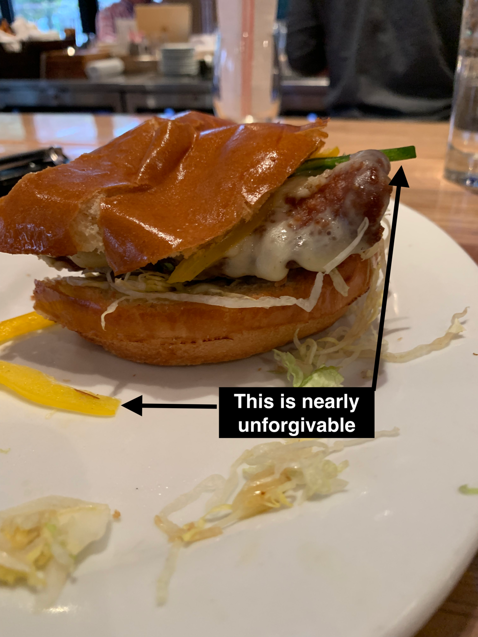 Zinburger's Southwest Fried Chicken Sandwich, featuring the sweet peppers our correspondent found so difficult to swallow. Photo Drew Calamaro /  Virginia Law Weekly