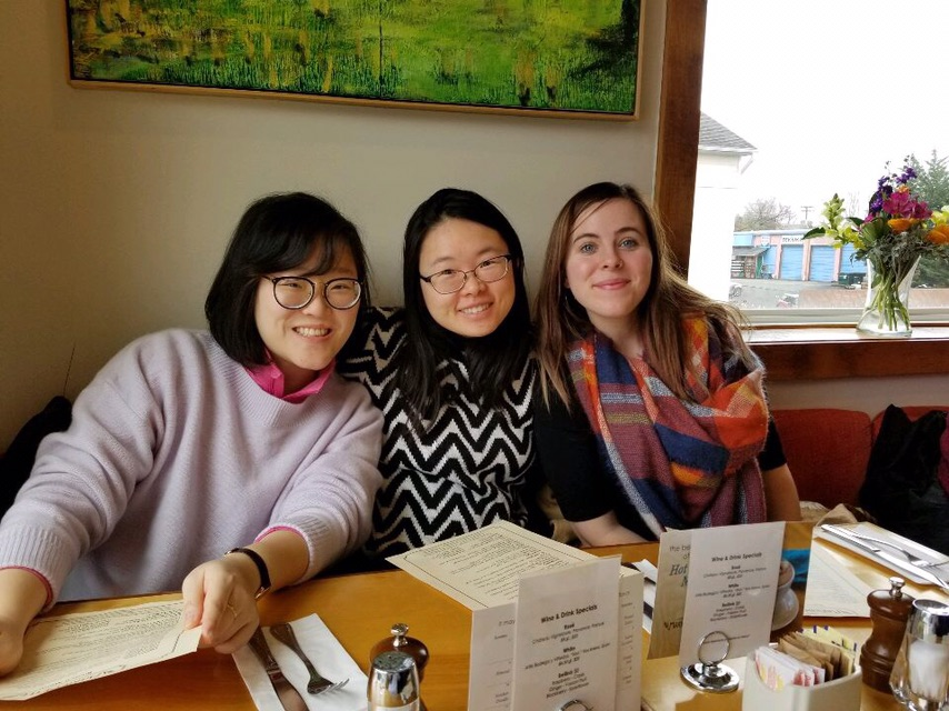Christina Luk '21, Grace Tang '21, Kolleen Gladden '21 brunch at MarieBette's. Photo Credit: Jenny Kwun.