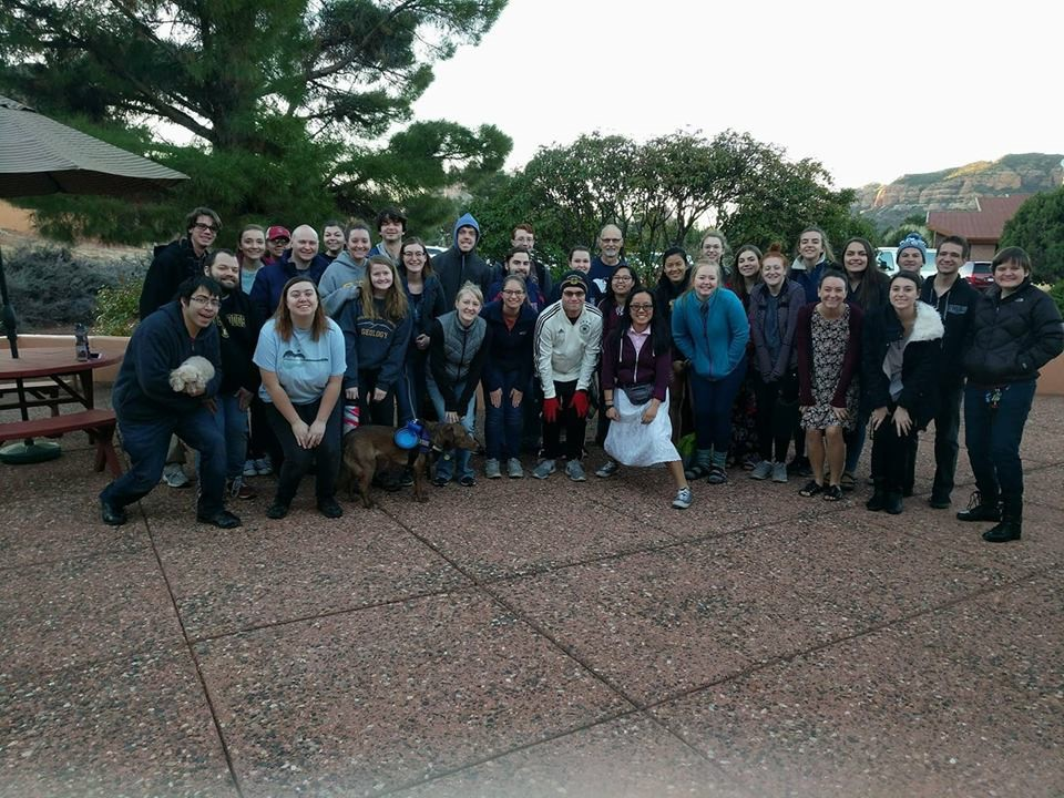 This is a photo of all of the LCM students from the state of Arizona (that could get the time off of work), spending some time together during our annual retreat to Sedona, AZ.