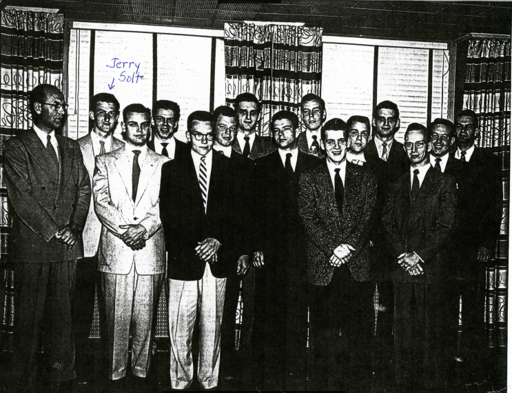 1953 -  As a student at the prestigious General Motors Institute, now know as the Kettering Institute, Jerry is shown here with his fellow students of the Cadillac division. Jerry also studied engineering at Ohio Northern University and the University of Michigan.