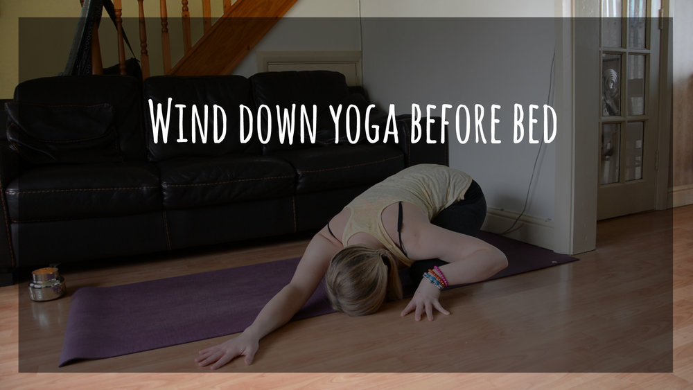 wind down yoga before bed