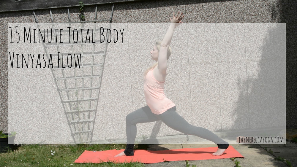 15 minute total body vinyasa flow yoga