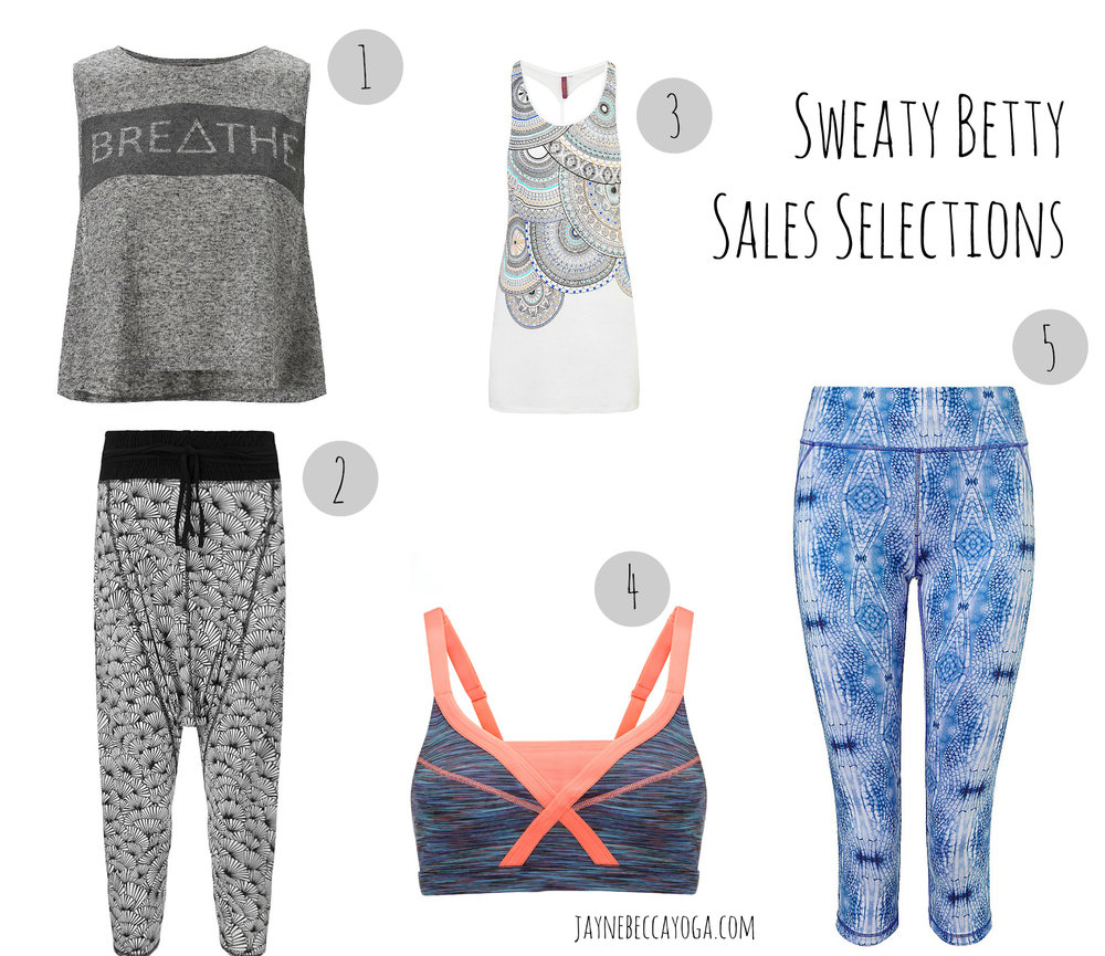 sweaty betty sale selections