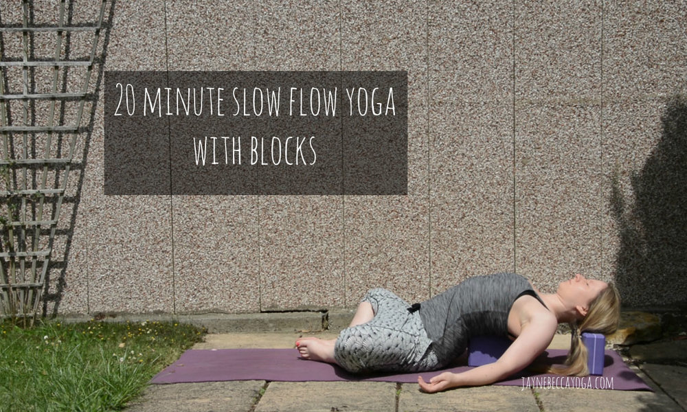 20 minute slow flow yoga with blocks
